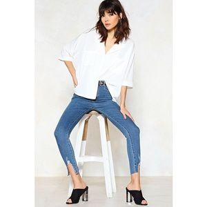 Nasty Gal distressed skinny jean